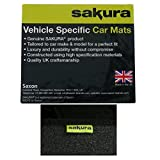 Sakura Car Mats for Kia Picanto Fits 2010 to 2011 Models - Black