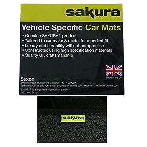 Sakura Rubber Boot Mat for Volvo V50 Estate