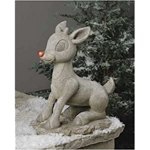 Click to buy Outdoor Christmas Lights: Solar Rudolph Figurine from Amazon!