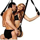 Moonight Adult Sex Sling Swing-Door Swing Bedroom Hoisting Strap Alternative Adult Sex Play Product for Couple Sex Game Comfortable Seat & Legs Pads Sling Swing for Couple