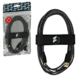 ZedLabz ultra 3M braided USB charging cable adapter for Nintendo 3DS, 2DS & DSi - gold plated extra long play & charge lead with velcro tidy