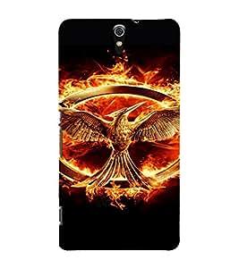 PrintVisa Hunger Games Design 3D Hard Polycarbonate Designer Back Case Cover for Sony Xperia C5 Dual