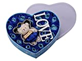 Creative Unique Romantic 18 Scented Roses Blue Rose Flower Petal Bath Soap Gift Box With I Love You Teddy Bear Cute Birthday Anniversary Valentines Day Flower Present sf1804