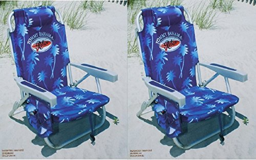 2-tommy-bahama-2015-backpack-cooler-chairs-with-storage-pouch-and-towel-bar-blue-by-tommy-bahama