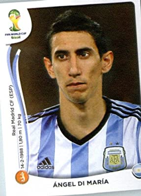 2014 Panini World Cup Soccer Sticker # 425 Ángel Di María Team Argentina