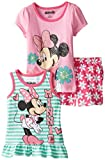 Disney Little Girls' 3 Piece Minnie Mouse Screen Print Short Set
