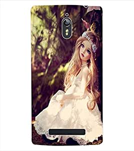 ColourCraft Cute Doll Back Case Cover for OPPO FIND 7