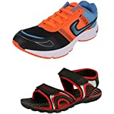 Tempo Men's Combo Pack Of Sports Shoes (Joggers & Sandal)