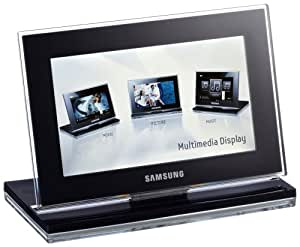 Samsung SPF-800P Digitaler Bilderrahmen (20,32 cm (8 Zoll) Display, 16:9, Bluetooth, 2 GB interner Speicher) mit Fernbedienung
