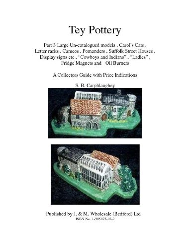 Tey Pottery Part 3 Large Un-catalogued models , Carol's Cats , Letter racks , Cameos , Pomanders , Suffolk Street Houses , Display signs etc ,