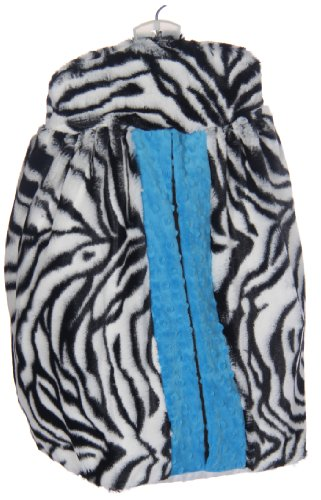 Baby Doll Zebra Minky Diaper Stacker, Blue