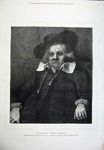 Fine Art 1876 Admiral Van Tromp Rembrandt Burlington