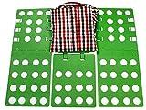 畳む神器 洋服たたみボード クイックプレス 衣類を収納する 服畳む 便利に調節することができます (緑)