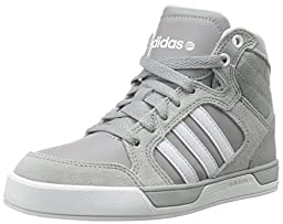 adidas NEO Bbadidas NEO Raleigh K Basketball-Inspired Sneaker (Little Kid/Big Kid),Grey/White/Grey,5 M US Big Kid