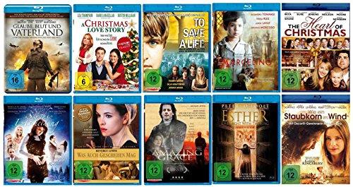 Die christliche Filme - Glauben - Spielfilm - Sammlung ( 10 ausgewählte Glaubensfilme mit viel Botschaft - Herz und Liebe ) (10 Blu-rays )