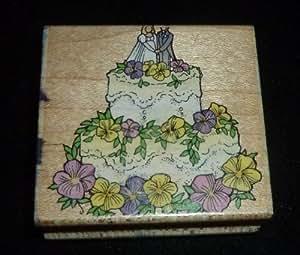 wedding cake rubber stamp home kitchen. Black Bedroom Furniture Sets. Home Design Ideas