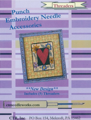 Fantastic Deal! CTR Punch Embroidery Needle Threaders, 5-Pack