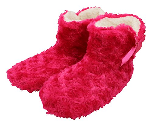 enimay-womens-slipper-boots-lounge-house-relaxed-shoes-hot-pink-m-l
