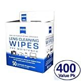 New ZEISS Pre-moistened Lens Cleaning Wipes Clean Eyeglasses, Cell Phones, Cameras (400 count) by ZEISS