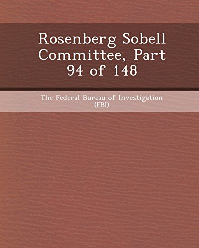 Rosenberg Sobell Committee, Part 94 of 148