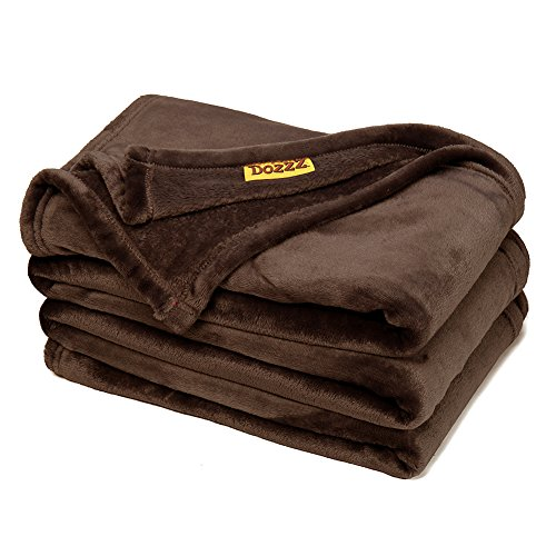 DOZZZ Super Soft Fuzzy Fur Faux Blanket Warm Throw Blanket for Couch Light Weight Plush Velvet Throw BROWN Blanket Machine Washable Cozy Throw Blanket, 78 x 58 Inch (Big Blanket compare prices)