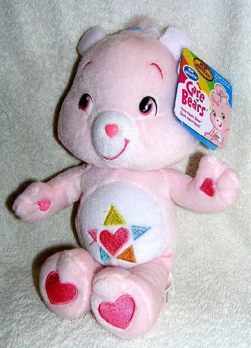 "2007 The New Care Bears - Plush 10"" True Heart Bear Doll front-1013380"