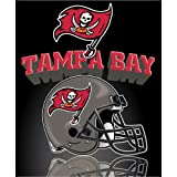 "Tampa Bay Buccaneers Light Weight Fleece NFL Blanket (Grid Iron) (50""x60"")"