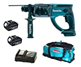 Makita 18V LXT BHR202 BHR202Z BHR202Rfe Sds Hammer Drill, 2 X BL1830 Batteries, DC18RC Charger And LXT600 Bag