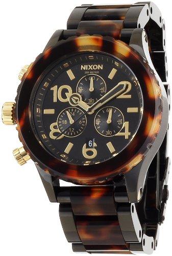 [ニクソン]NIXON 腕時計 4220 CHRONO ALL BLACK/TORTOISE NA037679-00 レディース 【正規輸入品】