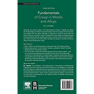 Fundamentals of Creep in Metals and Alloys, Third Edition