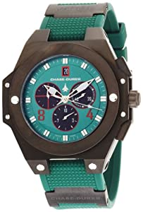 Chase-Durer Men's 779.4BEB Conquest Sport Chronograph Stainless Steel and Green Rubber Watch from Chase Durer