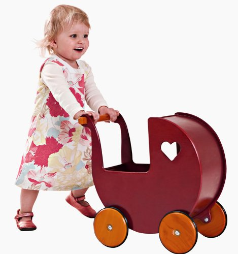 HABA Moover Doll Pram, Red