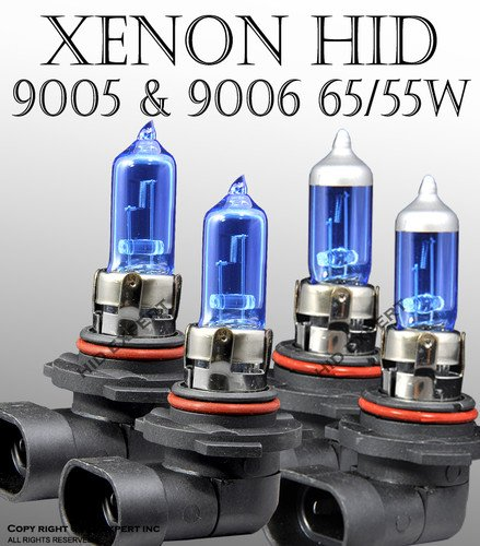 9005 9006 55W Combo Package Hi/Lo Beam XENON HID Bulbs Super White (Hid Headlight Bulbs 9005 9006 compare prices)