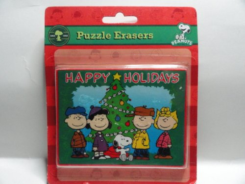 Peanuts Puzzle Erasers - Christmas Themed - 1