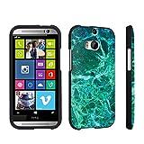 DuroCase ® HTC One M8 Hard Case Black - (Jade Marble)