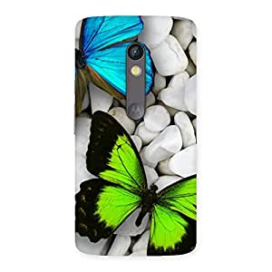 Cute Premier Butterflies Multicolor Back Case Cover for Moto X Play