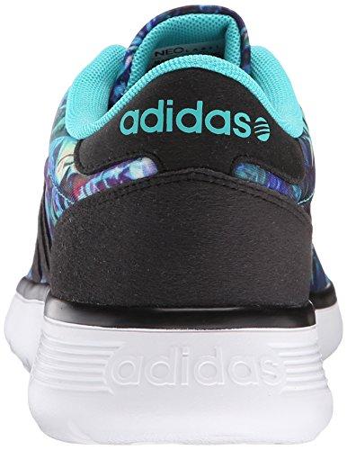 adidas neo women's light racer w casual scarpa, vivido mint / nero