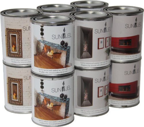 Buy Bargain SunJel SJ-PACK-12 12-Pack Fireplace Gel Fuel