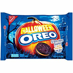 Halloween Oreos Chocolate Sandwich Cookies 5 Shapes 15.35 Oz. (Pack of 2)