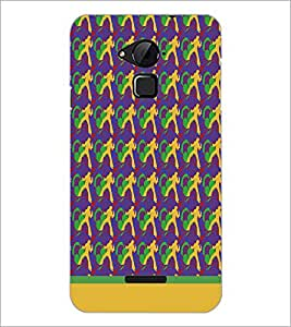 PrintDhaba Music pattern D-1912 Back Case Cover for COOLPAD NOTE 3 LITE (Multi-Coloured)