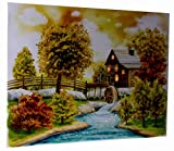 Light Up Autumn Cabin Wall-Hanging Painting with LEDs - 12