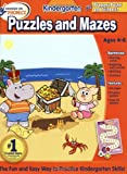 Hooked on Phonics Kindergarten Puzzles and Mazes Workbook