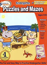 Hooked on Learning Kindergarten Puzzles and Mazes Workbook (Hooked on Phonics (Paperback))