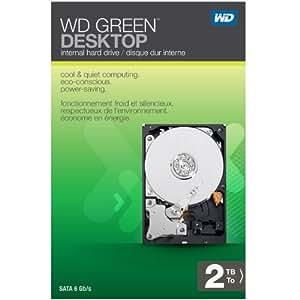 WD Green Desktop 2TB SATA 6.0 GB/s 3.5-Inch Internal Desktop Hard Drive Retail Kit
