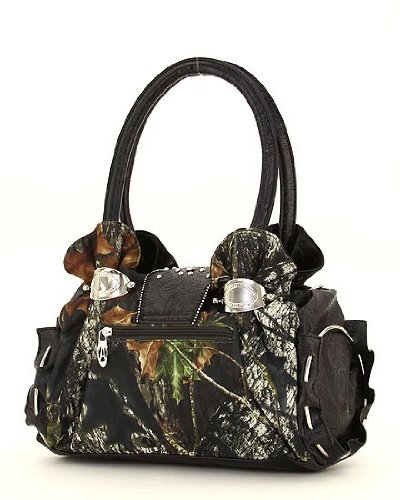Mossy Oak Camouflage Rhinestone Studded Handbag Red бинокль leupold bx 2 cascades 10x42 mossy oak