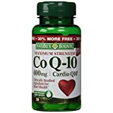 Nature's Bounty Co Q-10 Cardio Q10 400 mg Softgels Maximum Strength 39 CP - Buy Packs and SAVE (Pack of 3)
