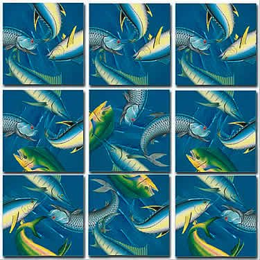 Cheap B Dazzle Deep Sea Fish Scramble Squares Puzzle 9pc (B0014EAWC2)