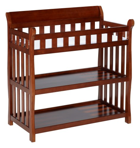Great Features Of Delta Eclipse Changing Table, Dark Cherry