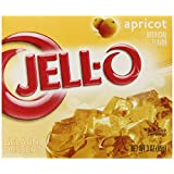 Jell-O Gelatin Dessert, Apricot, 3-Ounce Boxes (Pack of 6)