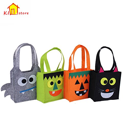 Eco friendly halloween fabric trick or treating bags